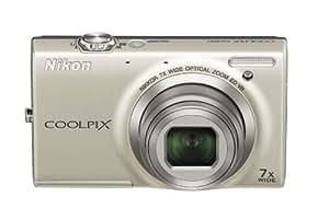 """Nikon Coolpix S6100 Appareil photo numérique compact 16 Mpix Ecran 3"""" Zoom optique 7x Argent"""