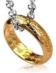 El Hobbit - El Señor de los Anillos - the lord of the ring-El Anillo único en Joyas - cadena 40cm