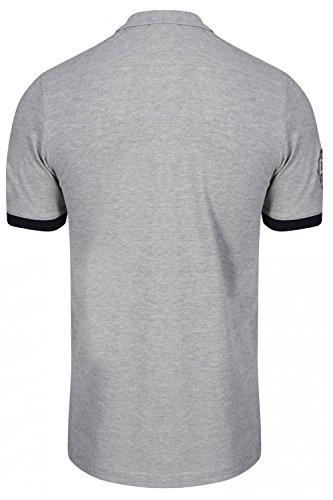 Da uomo Tokyo Laundry porta arancione polo Designer cotone piquet maglietta Top light grey marl