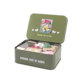 Farm Set In A Tin With Animals, Buildings & Play Mat by Apples to Pears