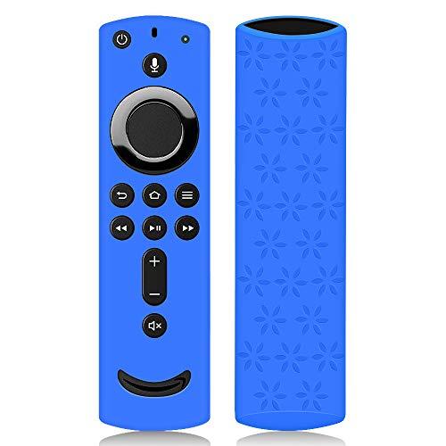 Hydream Schutzhülle für Fire TV Stick 4K / 4K Ultra HD mit der Neuen Alexa-Sprachfernbedienung (2.Gen), Flexibel Leichte rutschfeste Stoßfeste Silikon Fernbedienung Silikonhülle Cover Hülle (Blau)