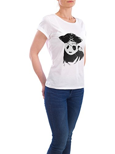 "Design T-Shirt Frauen Earth Positive ""Bio Piracy"" - stylisches Shirt Tiere von Tobe Fonseca Weiß"