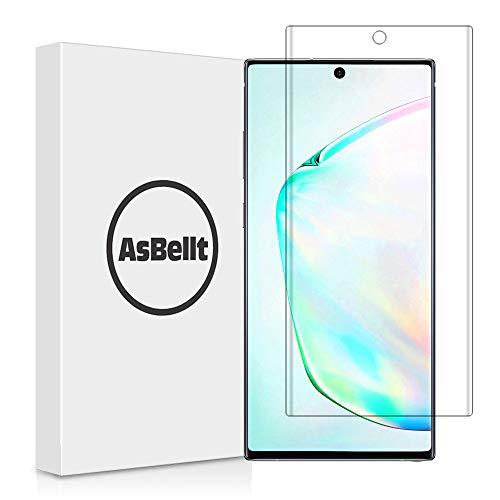 AsBellt Galaxy Note 10 Plus Panzerglas Schutzfolie [1 Stück],[Ultra Clear] [Blasenfrei] [9H] [Einfach zu Anbring] 3D Screen Protector Panzerglasfolie für Samsung Galaxy Note 10+/Plus