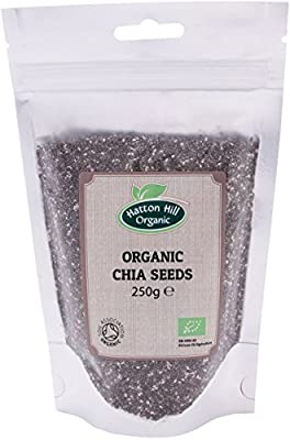 Organic Black Chia Seeds 250g by Hatton Hill Organic - Certified Organic by Hatton Hill Organic
