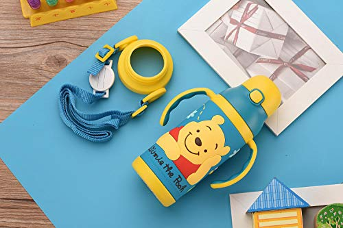 Free Shipping_Disney Pattern Children's Straw Insulation Cup Children's Cup Children's Leakproof Baby Drink Cup with Straw 400ml, G - Thermoskanne-leak-proof-reise-becher