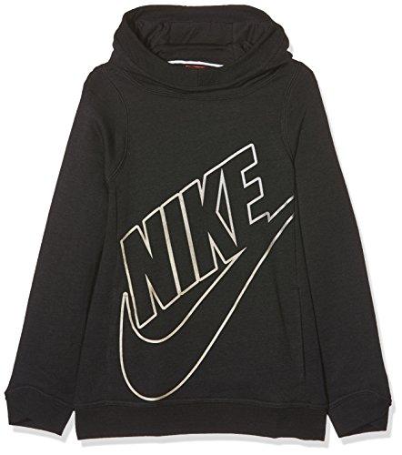 Nike g nsw modern hoodie po gfx felpa, bambina, g nsw modern hoodie po gfx, nero, s