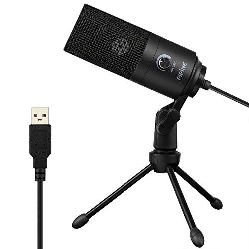 Fifine Micrófonos Direccionales de Condensador de USB para Estudio pa