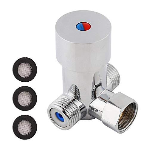 Preisvergleich Produktbild Wasser mischen Ventil,  G1 / 2 Hot kaltem Wasser mischen Mischbatterie,  Thermostat Temperatur Control für automatische Wasserhahn