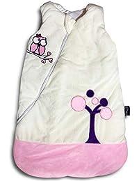 Ganzjahres Baby-Schlafsack in 70cm länge| leicht wattiert mit Baumwolle in 2,5TOG für Winter und Sommer | Erstausstattung für neugeborene zwischen 0-10 Monate von MF-Products