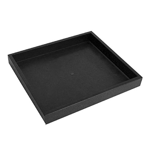 Half Size Black Stackable Plastic Tray 1 by Display and Fixture Store Display-trays