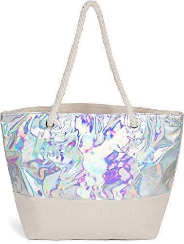 XXL Tasche ♥ große Strandtasche ♥ Sporttasche Badetasche Shopper BIKINI Beige