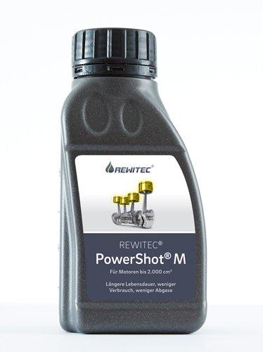 REWITEC PowerShot M | Protezione antiusura del motore | Rivestimento ceramico per la raffinazione di motori a combustione fino a 2.000 cm³| Meno gas di scarico e consumo ridotto