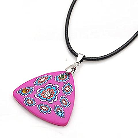 Farbe Polymer Clay Anhänger Mädchen Schlüsselband Anhänger Mädchen blumenförmigen einfache Kette Mädchen Schmuck-A