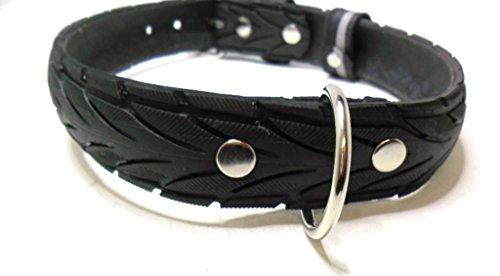 Handmade Hundehalsband aus Fahrradreifen (upcycling). Halsumfang von 46cm - 54cm. - 3