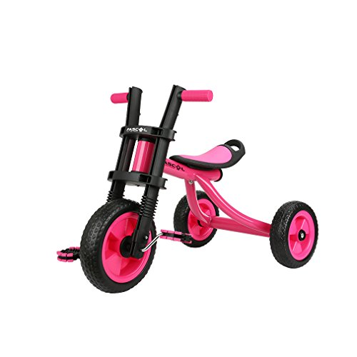 Fascol Kinder Dreirad ab 2-5 Jahre mit Rutschfest Pedal Kinderfahrzeuge Belastbarkeit bis 25 KG, Rot