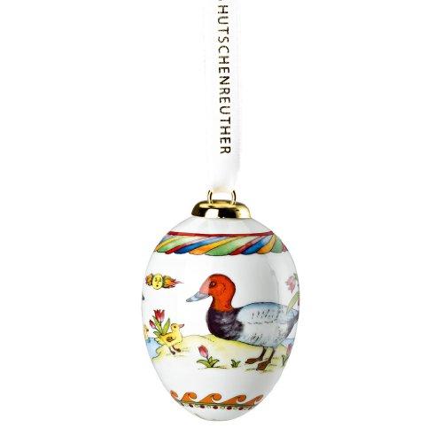 Hutschenreuther 02254-723928-27957 Porzellan-Ei 2014 Tafelente, 6,5 cm im Geschenkkarton