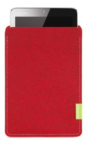 WildTech Sleeve für Lenovo A7-50 Tablet (A3500) Hülle Tasche - 17 Farben (Made in Germany) - Kirschrot