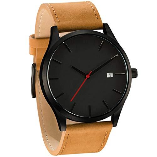 Cebbay Liquidación importado Reloj de pulsera blanco negro de cuarzo minimalista popular de cuero de connotación minimalista