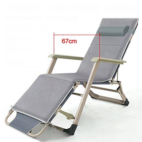 L&J des Confortables méridiennes,Pliant inclinable réglable chaises avec Appui-tête pour Patio Bureau Plage Piscine Jardin Yard Balcon Pique-Nique-Charge 200kg-D