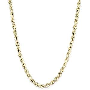 14 Karat / 585 Gold Kordelkette Gelbgold Unisex – 3.80 mm. Breit – Länge wählbar