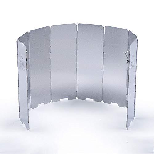 TCGYX Außenwindschutzscheibe 8-Platten-Falt-Outdoor-Campingkocher-Luftschleier-Gasherd-Windschutzscheibe -