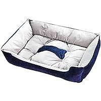 Gfone Cama sólida Interior del Amortiguador del Perro del algodón de la Felpa del Animal doméstico del Gato de la Moda Suministros para Camas