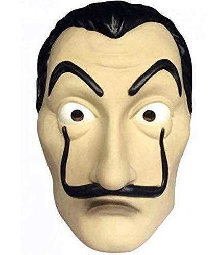 thematys Haus des Geldes Maske - perfekt für Fasching, Karneval & Halloween - Kostüm für Erwachsene - Latex, Unisex Einheitsgröße