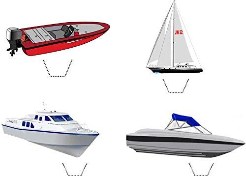 12 x Neuheit Boot Mix Schnellboot, Yacht , Segelboot Speise Standup Wafer Papier -Kuchen-Deckel