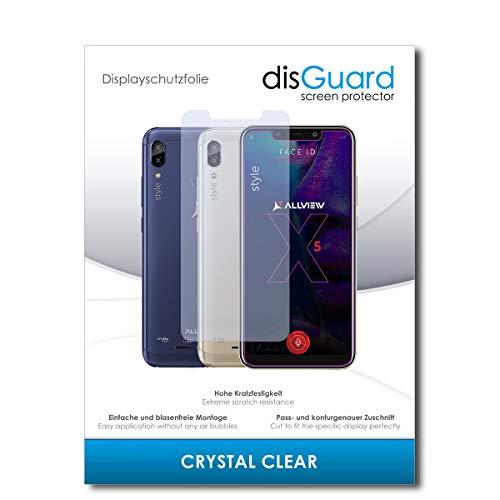 disGuard® Bildschirmschutzfolie [Crystal Clear] kompatibel mit Allview Soul X5 Style [2 Stück] Kristallklar, Transparent, Unsichtbar, Extrem Kratzfest, Anti-Fingerabdruck - Panzerglas Folie, Schutzfolie