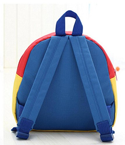 Koly Zaino del bambino Toddler Kid School Bags Kindergarten Sacchetti di spalla del fumetto (Yellow) Blue