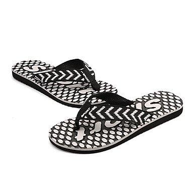 Slippers & amp da uomo;Comfort PU Estate Outdoor piatto Heel Nero Blu Marrone Walking Sandali sandali US10 / EU43 / UK9 / CN44