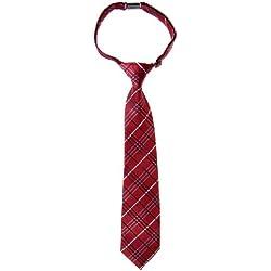 Retreez - Corbata para chico estilo tartán de cuadros de tejido de microfibra preatada - Varios colores rojo granate 4 - 7 Años