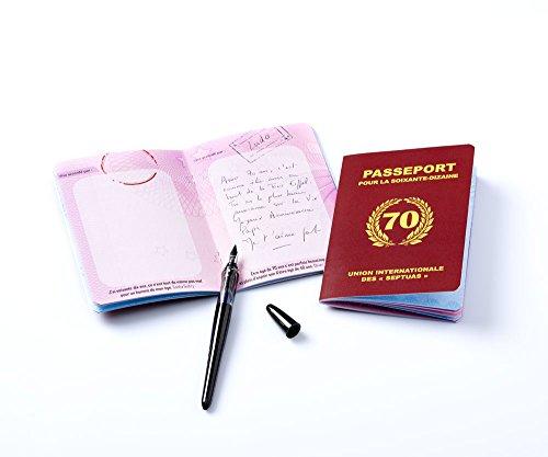 Livre d'or 'passeport pour la soixante-dizaine'