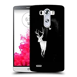 Snoogg White Deer With Black Lady Designer Protective Back Case Cover For LG G3 BEAT