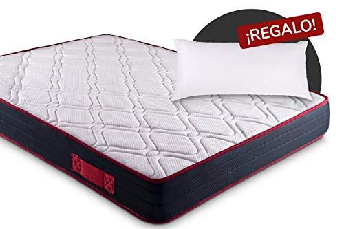 KAMA HAUS   Colchón Visco-Red Confort 90x180   con Viscoelástica ...
