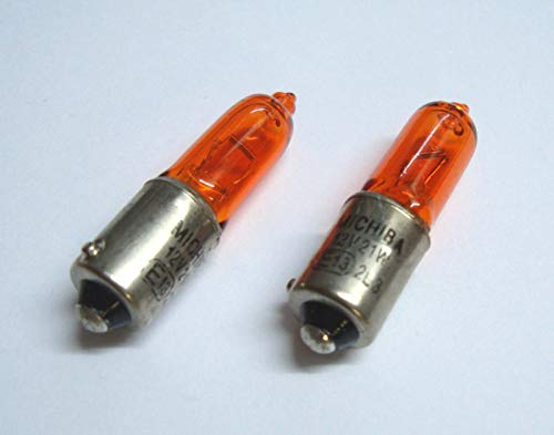 2x Blinkerbirne BAY9S H21W 12V 21W gelb orange Halogen Lampe Glühbirne Glühlampe Ersatzbirne -