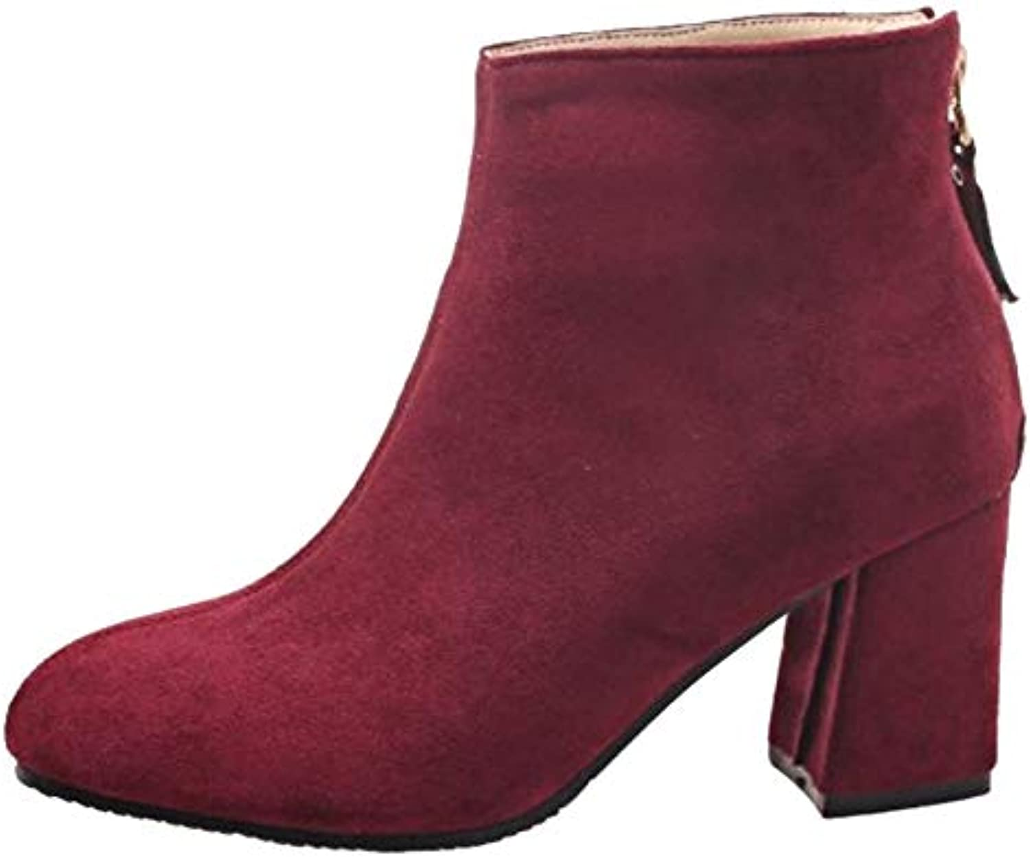 39720084b91f Cocey Cocey Cocey Women Fashion Chunky Ankle Booties B07H8CW254 Parent  447a0c