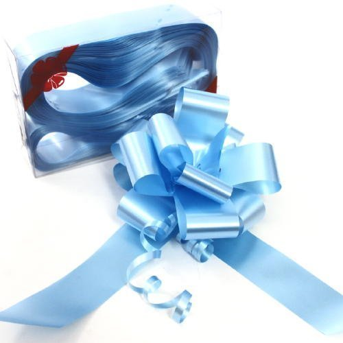 Baby Blue Florist Ribbon Gift Bows - 50mm - Pack of 10