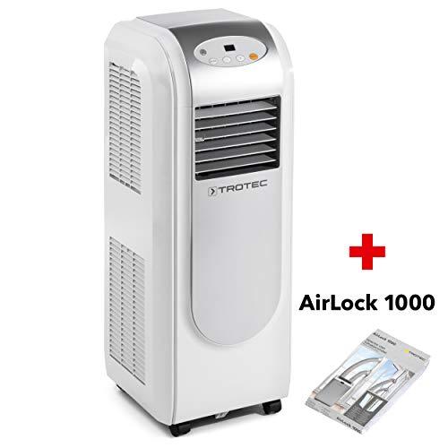 TROTEC Lokales mobiles Klimagerät Klimaanlage PAC 2000 E mit 2,1 kW / 7.200 Btu Inkl. Tür- und Fensterabdichtung AirLock 1000