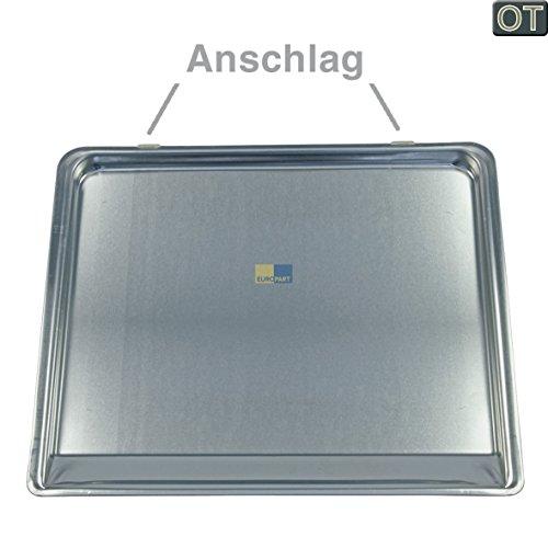 Produktbild Bosch Siemens 114538 00114538 Backblech Blech Ofenblech Backofenblech Kuchenblech Fettpfanne Aluminium 23x380x320mm Mikrowelle Ofen auch für HMZ19BB HZ8055 Neff Z6380X0 Imperial Küppersbusch Miele