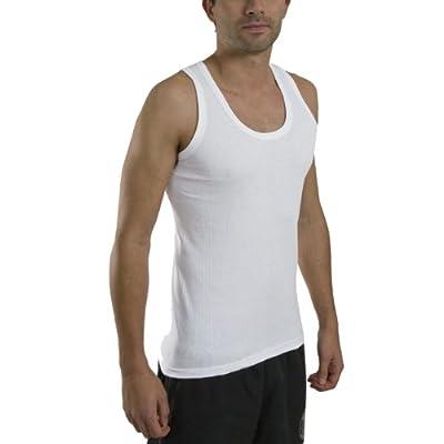 12 x Mens Thin Summer 100% Cotton Under Top Sleeveless Vest