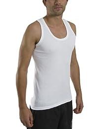 6 x Mens Thin Summer 100% Cotton Under Top Sleeveless Vest