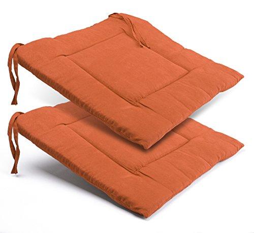 2 Stück Sitzkissen ca. 40x40x3 cm, Kissen Polster Stuhlkissen Sitzauflage gesteppt, Farbe wählbar