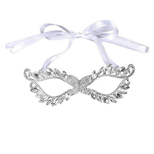 Maskerade Crystal Strass Maske Hochzeit Braut Maske Masquerade Augenmaske für Ball Hochzeit Prom Party Kostüm