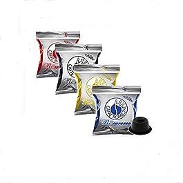100 capsule Borbone Respresso DEGUSTAZIONE 25 NERA, 25 BLU, 25 RED, 25 ORO compatibili Nespresso
