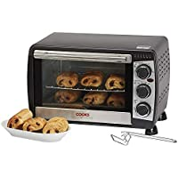 Cooks Professional 20L Black Mini Oven & Grill 1200W with Baking Tray & Wire Rack 2 Year Warranty