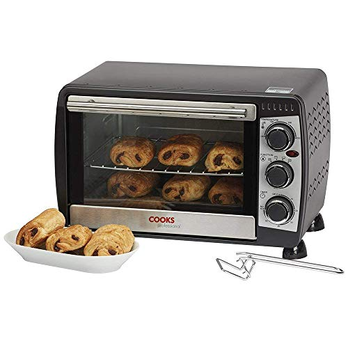 Ko�lle 18L Black Mini Oven & Grill 1200W with Baking Tray & Wire Rack 2 Year Warranty