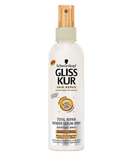 Schwarzkopf Gliss Total Repair Wonder Serum Spray for Dry Hair 200 mL with Ayur Soap