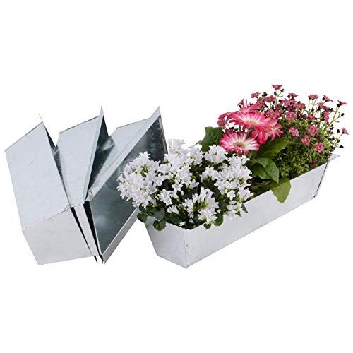 Nature by Kolibri 4 x Blumenkasten Balkonkasten Einsatz passend für Europalette 38cm