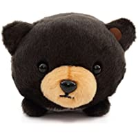 Lindo muñeco de peluche oso gris oscuro de patas cortas Marukuma Pola de Japón